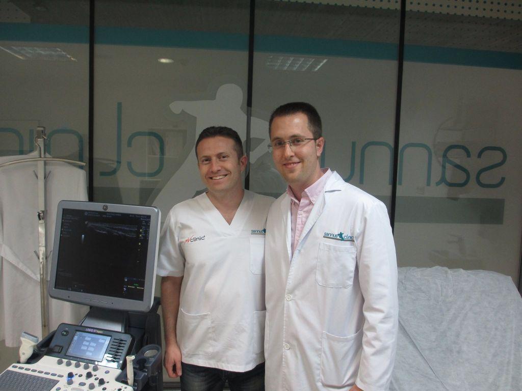fisomuro clinica de osteopatia y fisioterapia en madrid estudiando las últimas técnicas de EPI y Onda de Choque