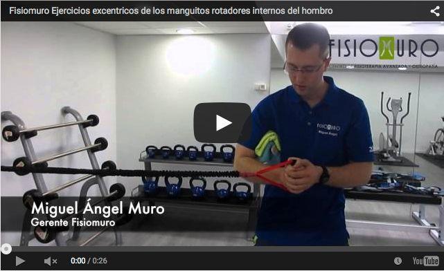 fisiomuro-video-Fisiomuro Ejercicios excentricos de los manguitos rotadores internos del hombro