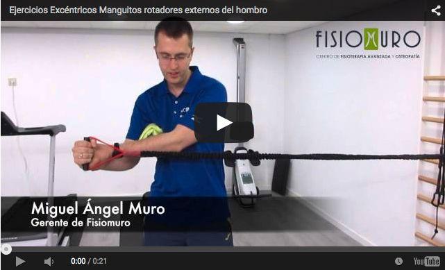 fisiomuro ejercicios excentricos manguitos rotadores externos hombro