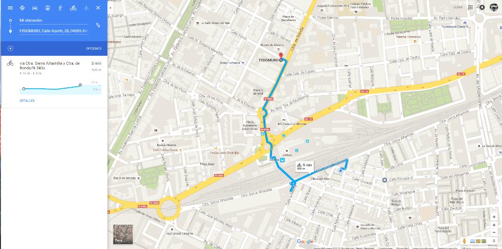 maps para biciclestas y fisiomuro