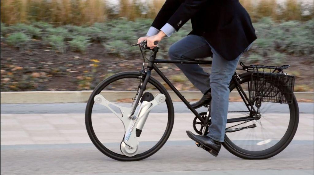 rueda electrica de bici y fisiomuro